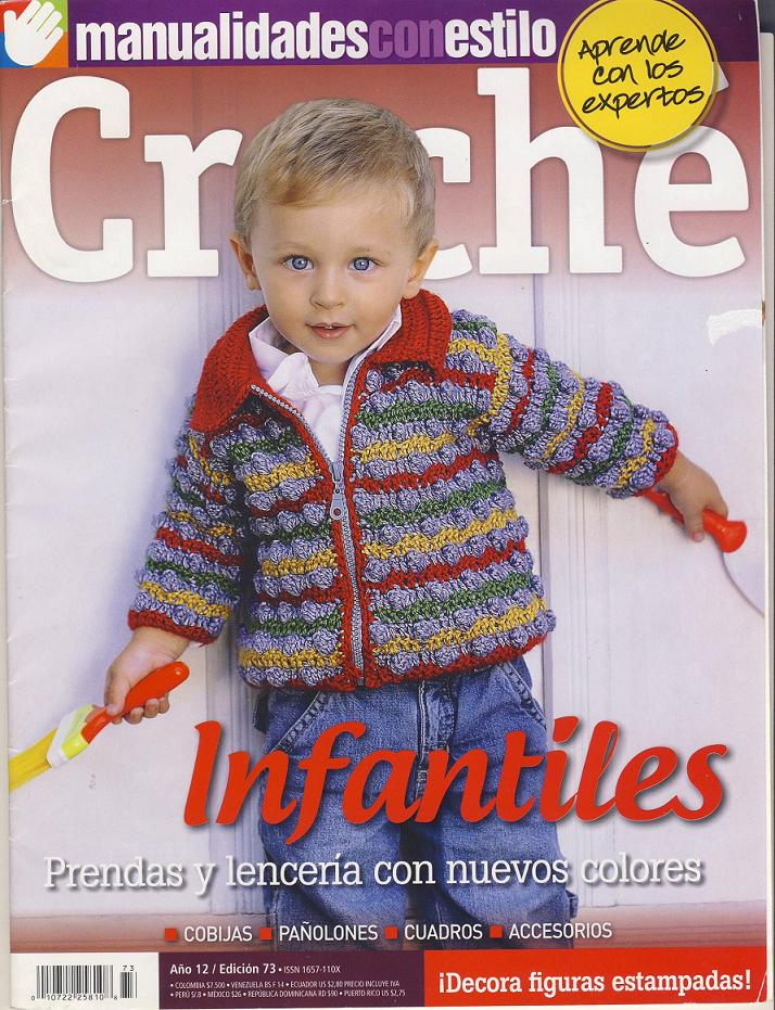 Posavasos en crochet una opción para navidad y Revista Infantil