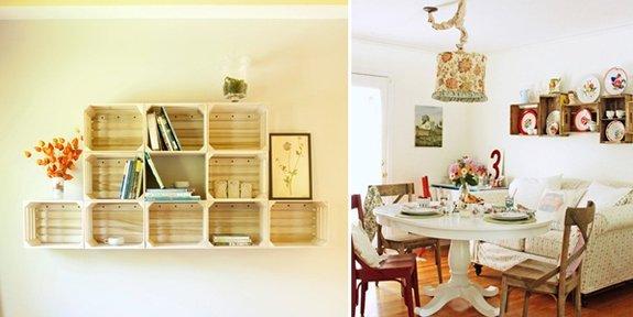 decoracao cozinha tradicional:Inspire-se: dicas para usar caixotes de madeira na decoração.