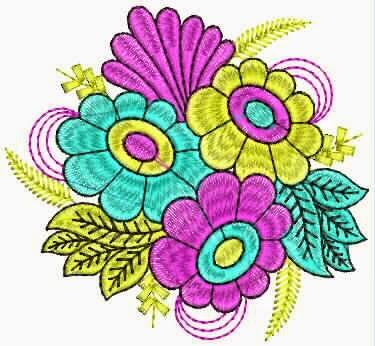 Hand borduurwerk quilt ontwerp vir pakke