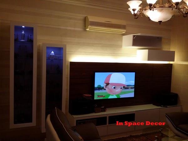 TV Cabinet Install In Terrace House Taman Tasik Indah Kuala Lumpur