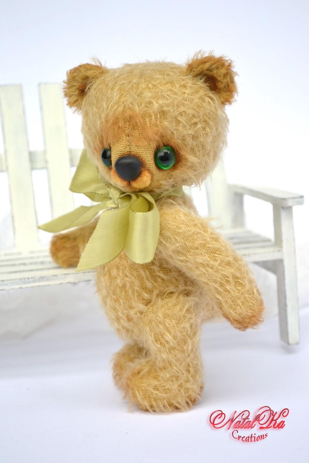 Авторский мишка тедди медведь медвежонок из мохера от NatalKa Creations. Künstlerbär Teddybär Bär Teddy handgefertigt von NatalKa Creations.