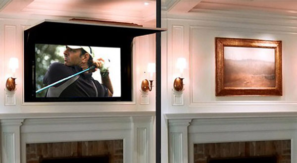 Hogares Frescos Esconde Tu TV De Pantalla Plana Detras De