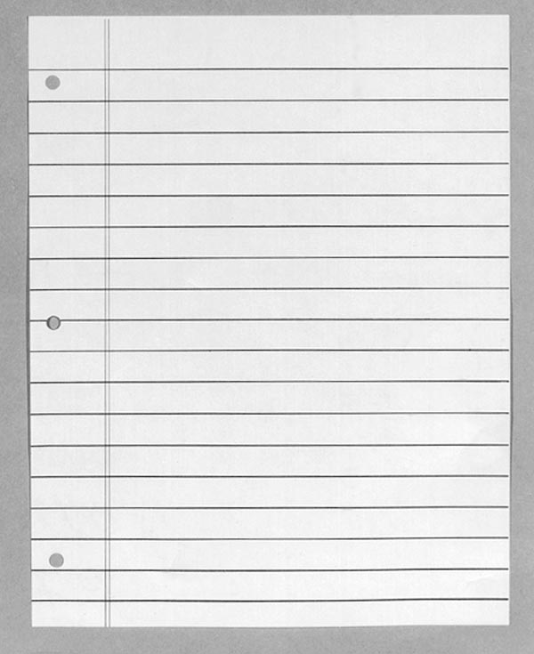 Blank Notebook Paper Template Pictures to Pin PinsDaddy – Notebook Paper Template