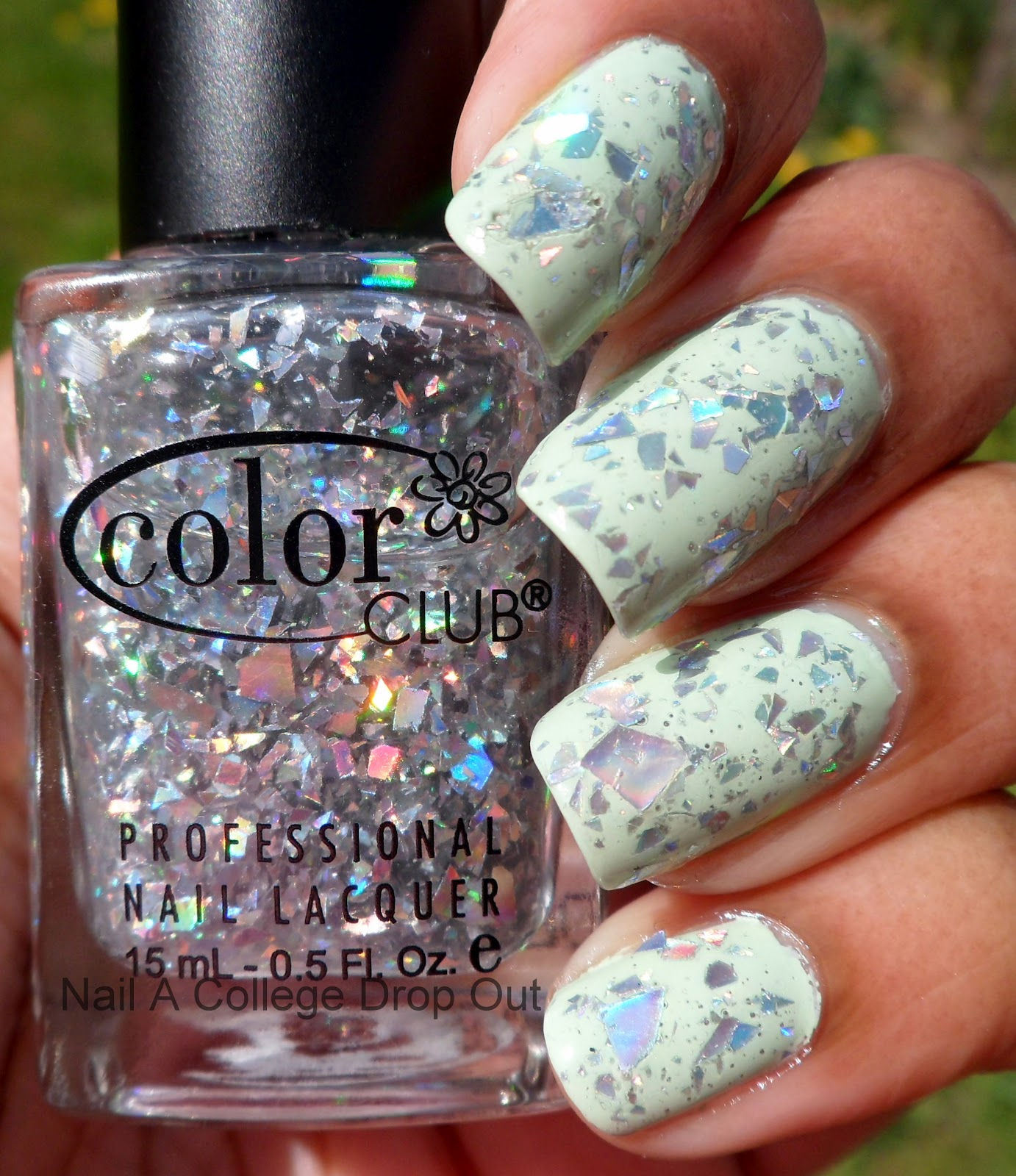 Nail A College Drop Out: NOTD: Color Club Diamond Drops & Icing Mint ...