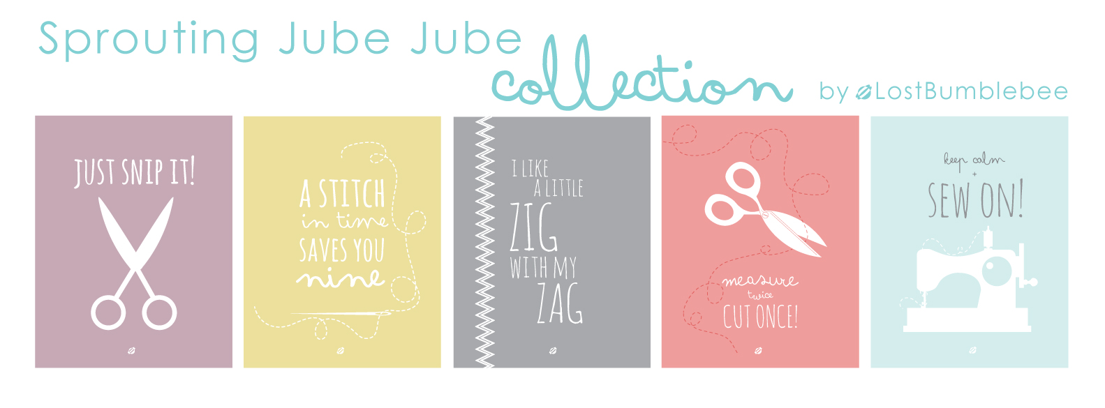 LostBumblebee ©2014 Sprouting Jube Jube Collection  Web Header- free printables- free for personal use only