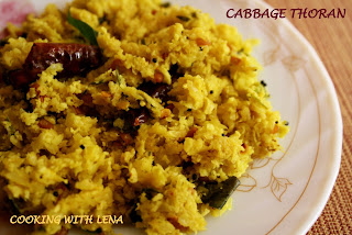sadya style cabbage thoran