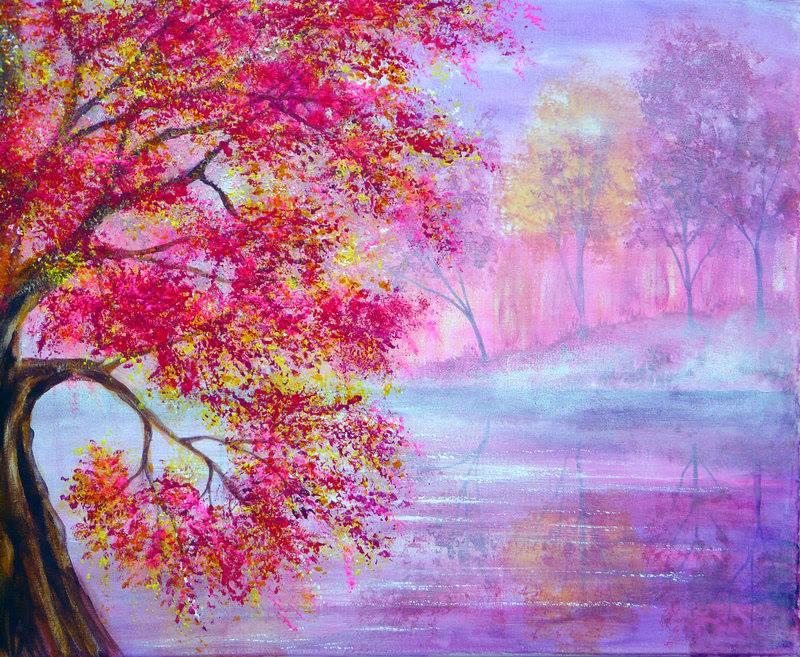 Рисунки осений пейзаж