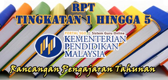RPT Rancangan Pengajaran Tahunan Tingkatan 1 hingga Tingkatan 5
