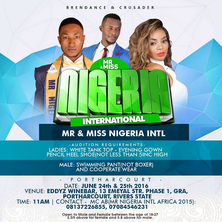 Mr and Miss Nigeria International 2016