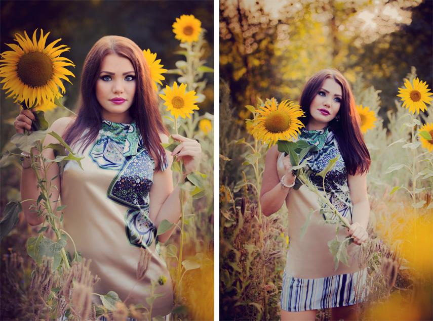 Anastasia im Sonnenblumenfeld 2