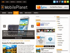 MobilePlanet - Free Wordpress Theme