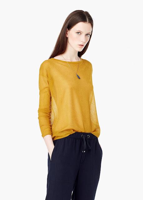 mango mustard sweater