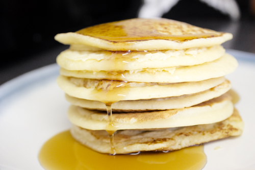 Small Batch Vanilla Ricotta Pancakes {sweet like sarah} #pancakes #breakfast