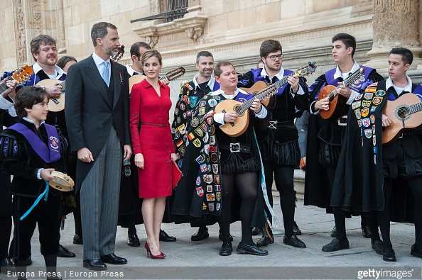 King Felipe of Spain and Queen Letizia of Spain attended Cervantes Award Ceremony at Alcala de Henares University