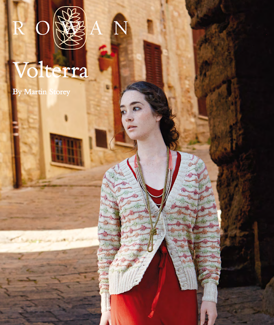 The Vintage Pattern Files Free 1960's Knitting style Pattern -  Volterra Bobble Stripe Cardigan
