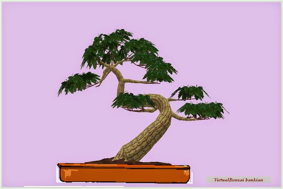 Bonsai virtual generado con virtualbonsai software
