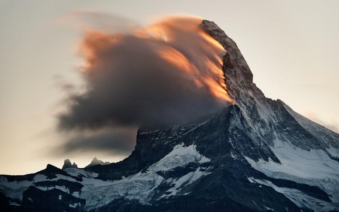 Burning peak