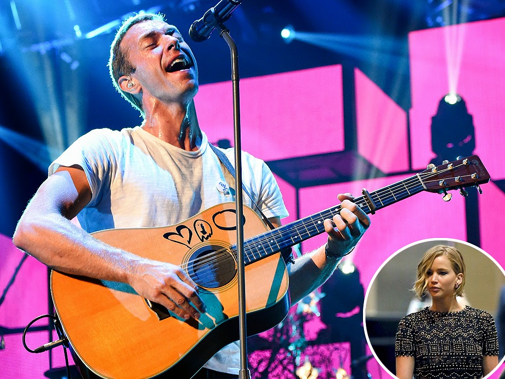 Chris Martin Gets Jennifer Lawrence Support at The iHeartRadio Music Festival