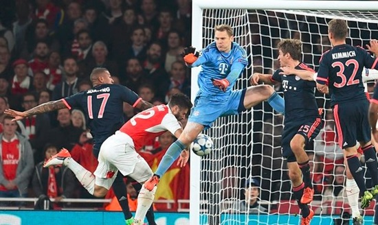Arsenal 2 x 0 Bayern de Munique - Champions League 2015/16