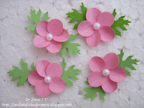 Cards crafts kids projects easy circle flower tutorial for Easy handmade flowers