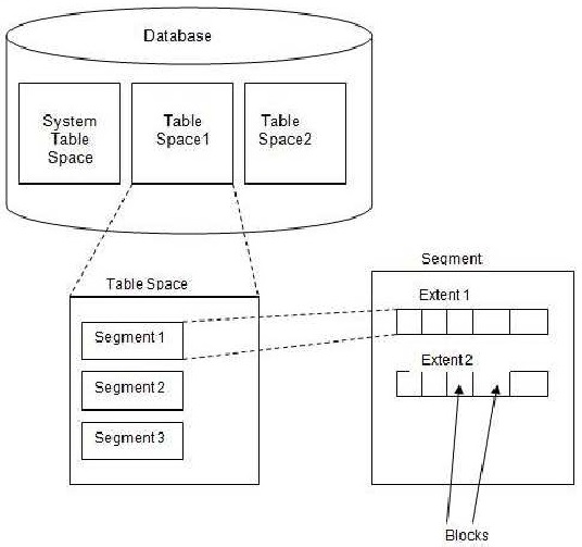 Bca Draw The Diagram Of Logical Structure Of Oracle Database And
