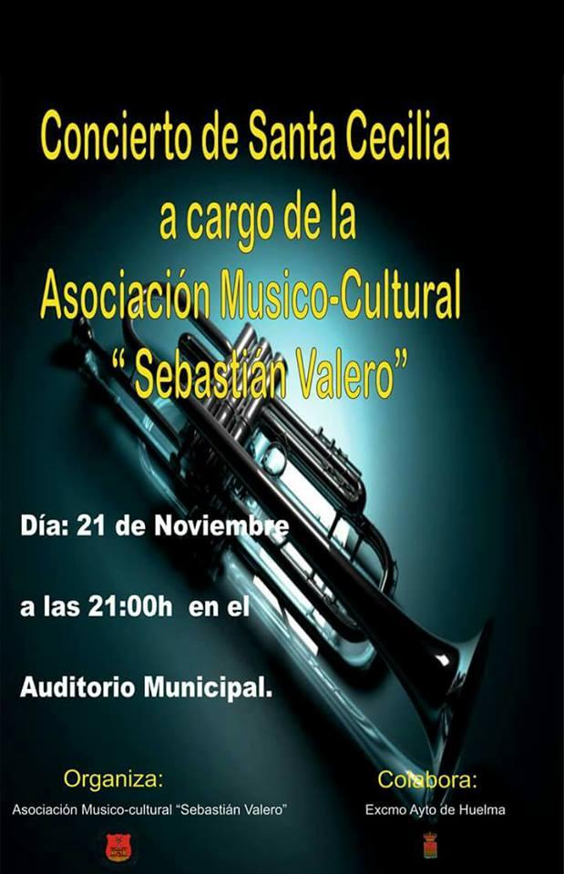 """CONCIERTO DE SANTA CECILIA POR LA ASOCIACION MUSICO-CULTURAL """"SEBASTIAN VALERO"""" DE HUELMA"""