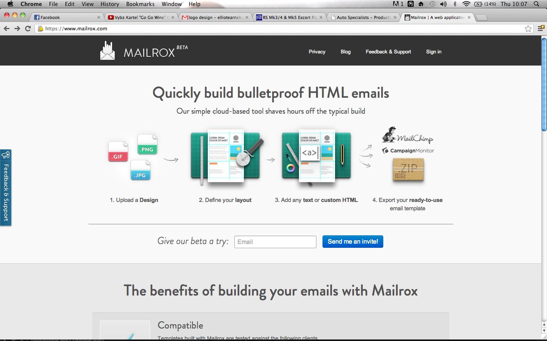 Mailrox | Elliot Earnshaw Web Design/HTML/CSS on html5 designer, database designer, marketing designer, word designer, audio designer, operating system designer, form designer, php designer,