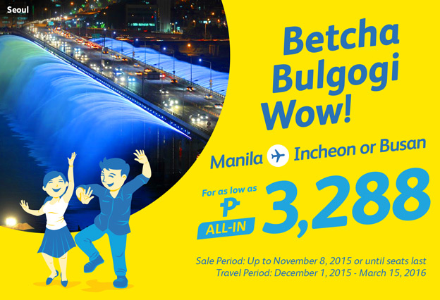 Cebu Pacific Busan Incheon Korea Promo 2016