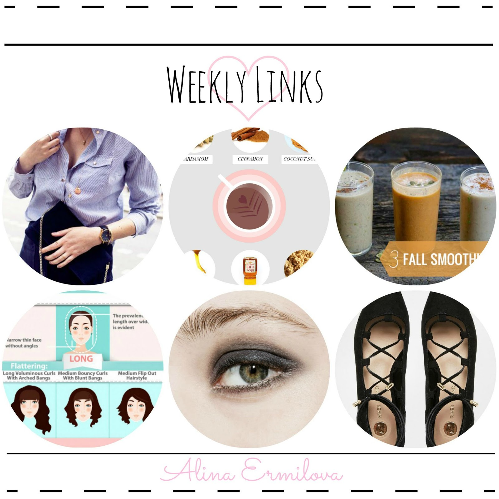 Jewelry hacks, Smoothie recipes, How to master smoky eye, affordable lace up flats, etc.
