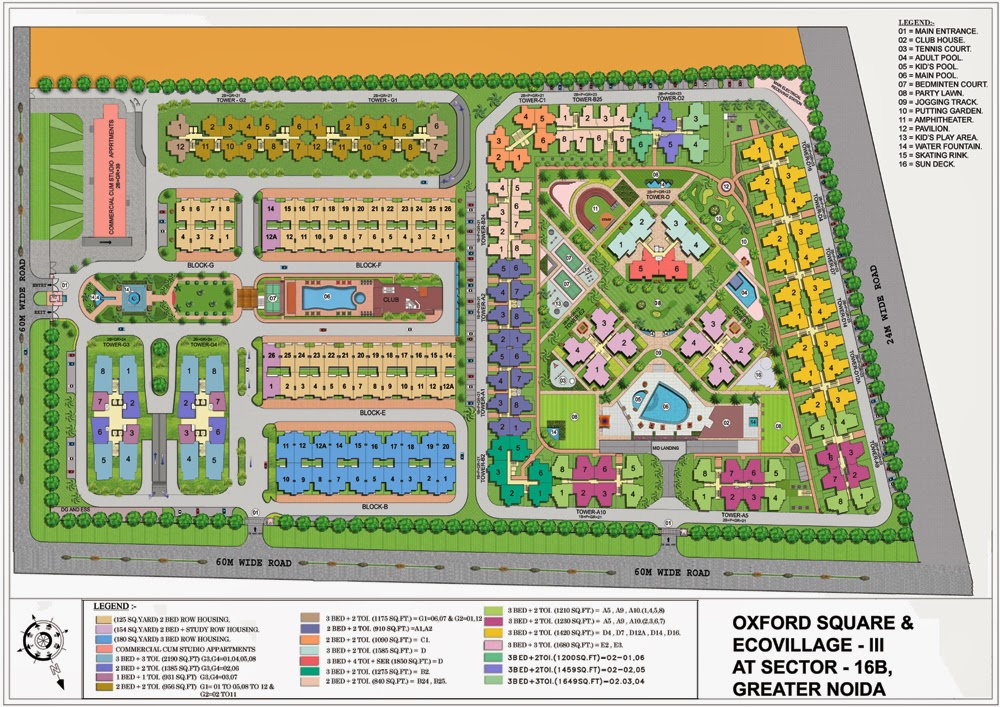 Supertech Ecovillage 3 Noida Extension :: Site Plan