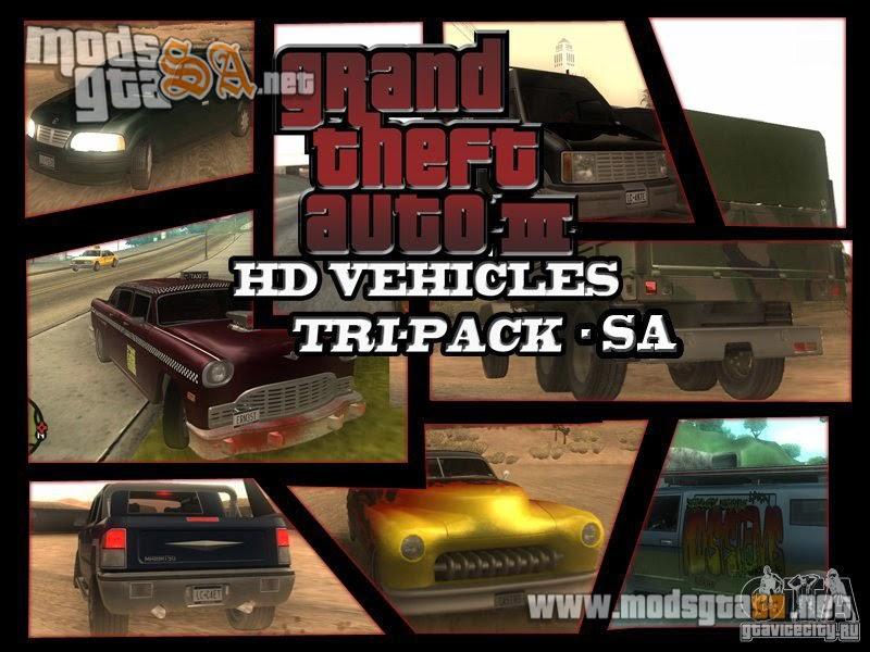 SA - Pack de Carros do GTA3 em HD v1.1