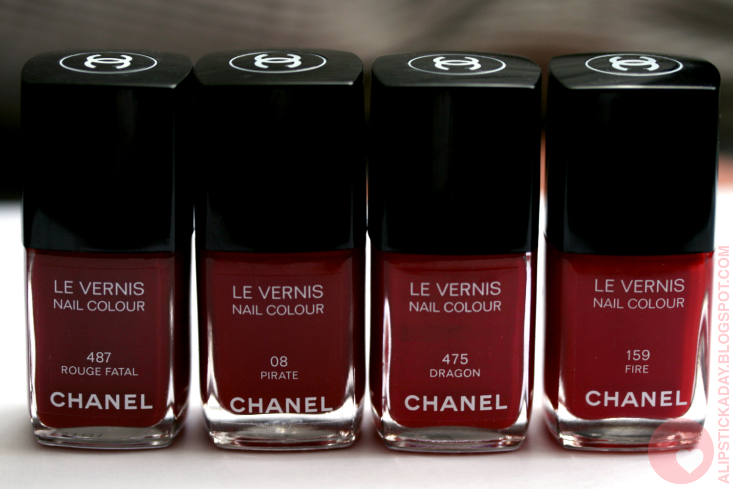 a lipstick a day nails of the day 5 chanel le vernis in pirate