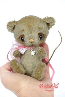 Авторская мышка тедди, мышь тедди, artist teddy mouse, mouse jointed, ooak teddy mouse, teddies wit charm, Künstlerteddy, Künstletmaus, Teddys, NatalKa Creations