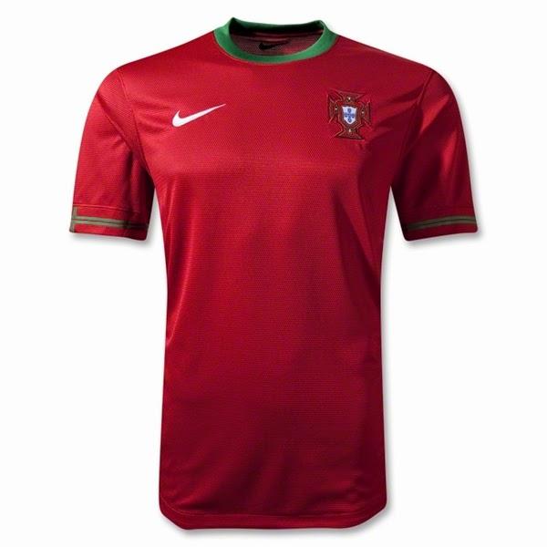 Jersey Negara Portugal - Piala Dunia 2014