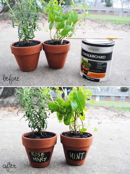 Swallow 39 S Heart Diy Chalkboard Indoor Herb Garden