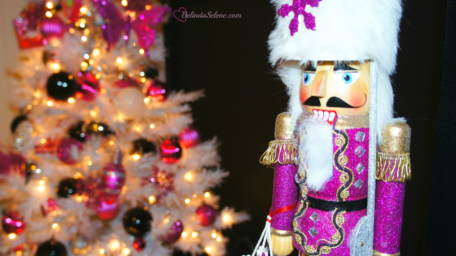 How to make a nutcracker christmas decoration - Victoria Secret Sequins Hat Victoria Secret Skirt Rebecca Minkoff Mini Mac Chanel Picture Frame Diy Ikea Side Table Pink Christmas Tree Micheal S