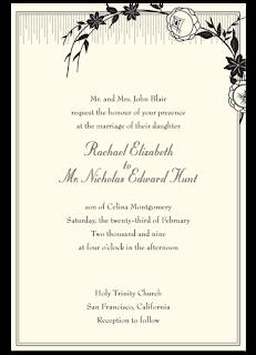 Convites simples para casamentos