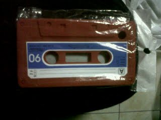 Red Cassette Case fro Blackberry 8520