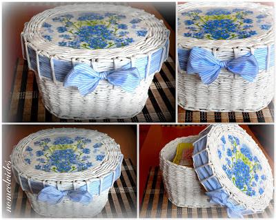 Seis manualidades que puedes hacer con papel reciclado manualidades - Hacer cestas con papel de periodico ...