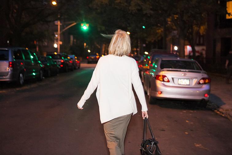 Fashion Over Reason night shoot, Brooklyn NYC, Ann Taylor knit