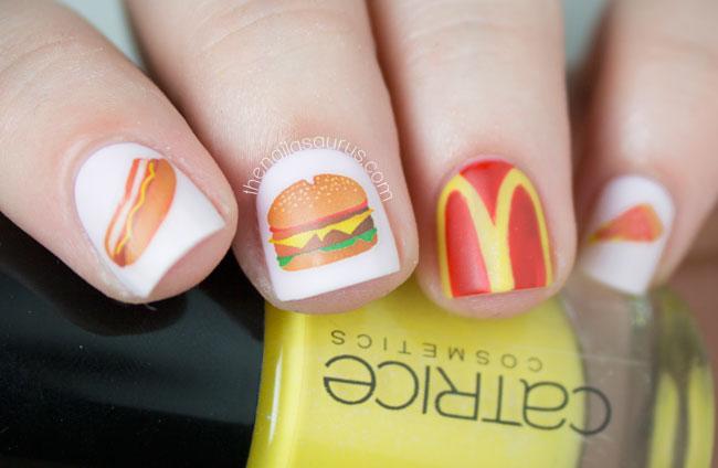 And Make It Fast Fast Food Nail Art The Nailasaurus Uk Nail