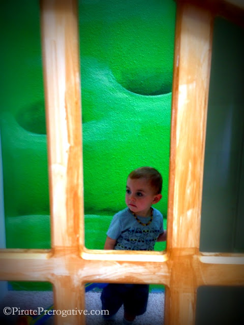 Looking through the castle window at KidVentures 4S Ranch