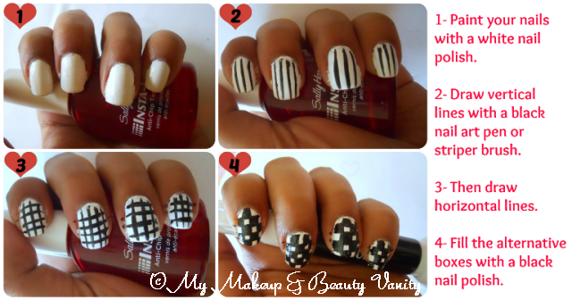 checkered nail art tutorial+nail art tutorial+nail art+nail+tutorial