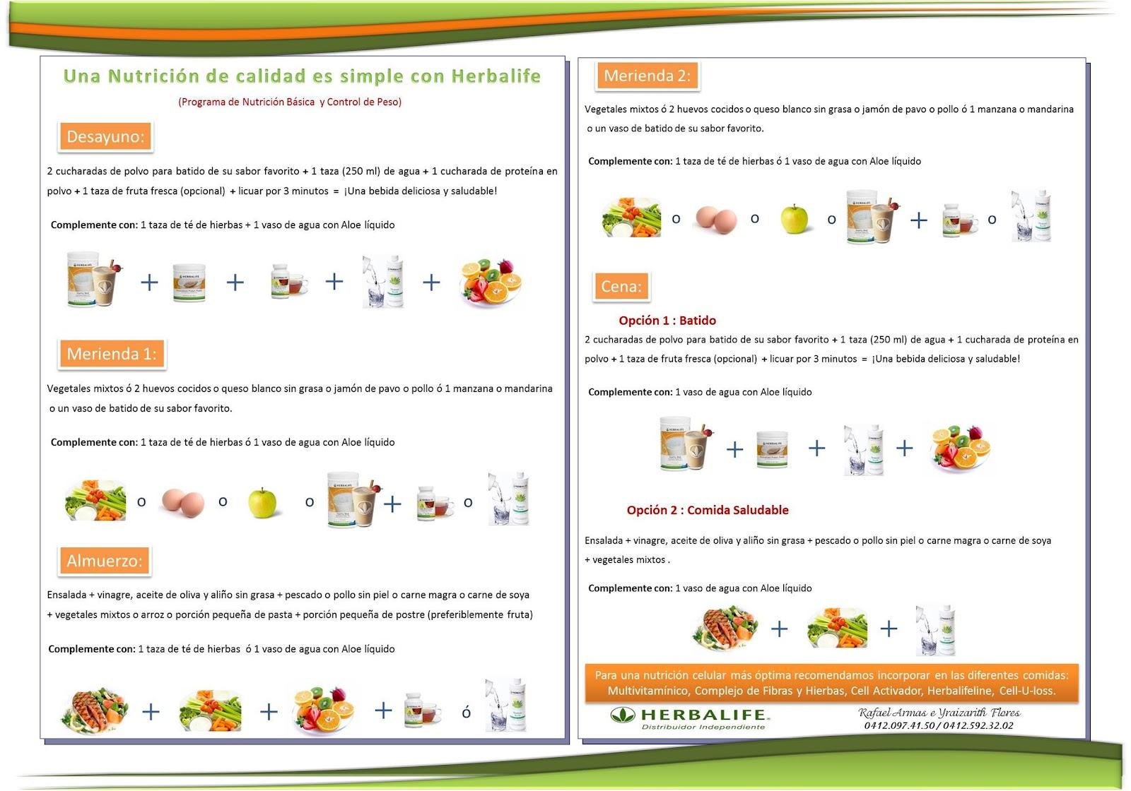 Equipo Herbal Herbalife Distribuidor Independiente: Dieta