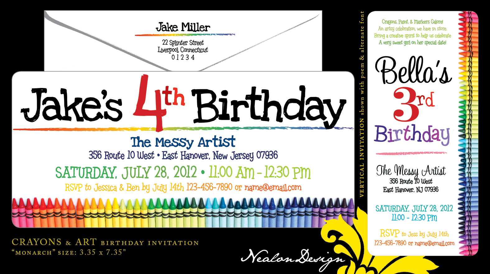 Nealon design crayons art birthday invitation crayons art birthday invitation i may have designed these for a 4 year old little boy stopboris Image collections