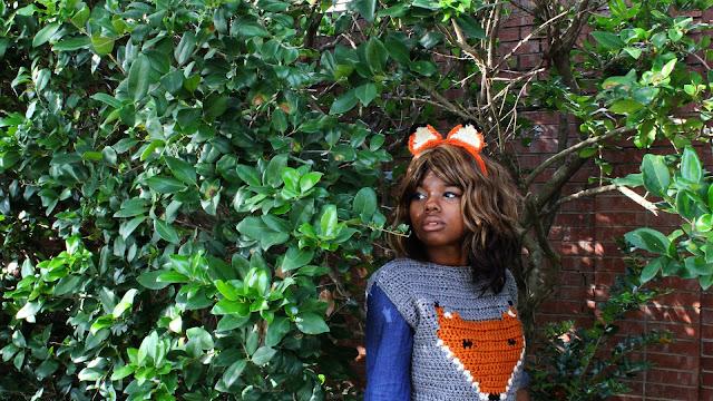 DIY // Free Crochet Pattern: Crochet Fox Ear Headband!