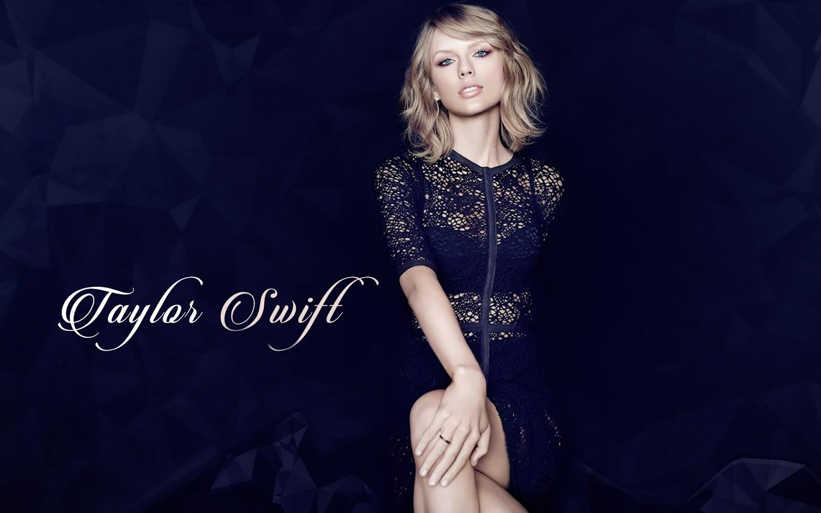 Taylor Swift Black Dress Beautiful Wallpaper