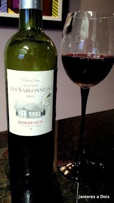 Vinho Tinto Bordeaux Les Sablonnets 2012