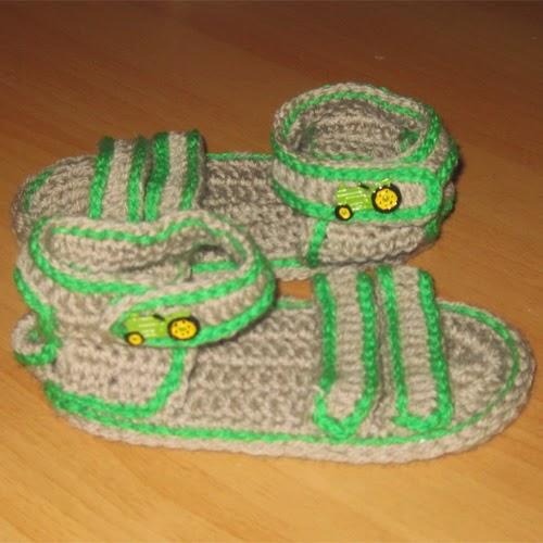 Crochet Strappy Summer Sandals