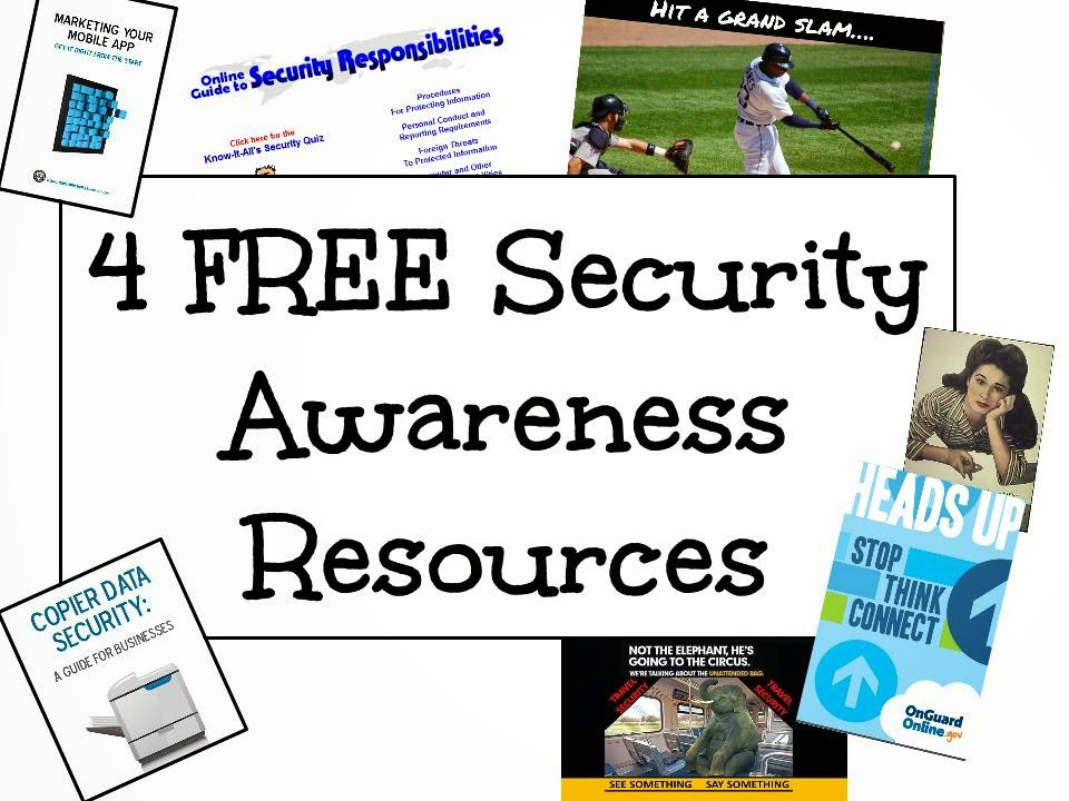 free security awareness material